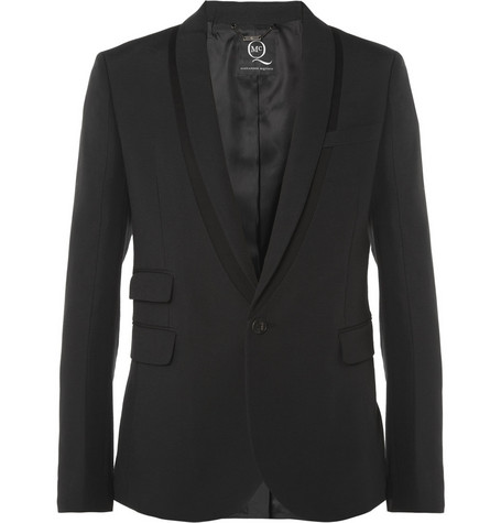 McQ Alexander McQueen Slim-Fit Cotton-Blend Tuxedo Blazer