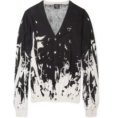 McQ Alexander McQueen Printed Silk and Cotton-Blend Cardigan