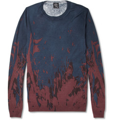 McQ Alexander McQueen Printed Silk and Cotton-Blend Sweater