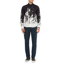 McQ Alexander McQueen Slim-Fit Faux Leather-Trimmed Jeans