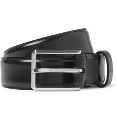 Lanvin High-Shine Leather Belt