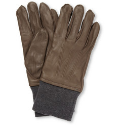 Lanvin Leather Gloves with Cashmere-Blend Lining