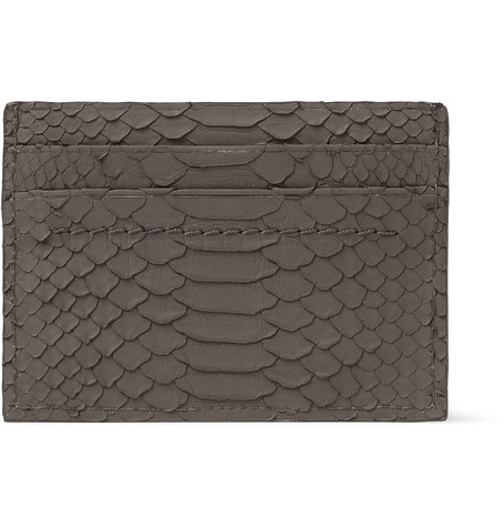 Lanvin Rubberised-Python Card Holder