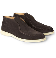 Loro Piana Open Walk Suede Loafers
