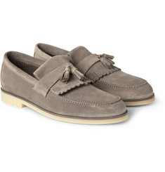 Loro Piana Anytime Walk Tasseled Suede Loafers