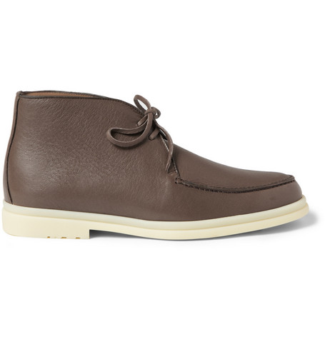 Loro Piana Walk and Walk Leather Desert Boots