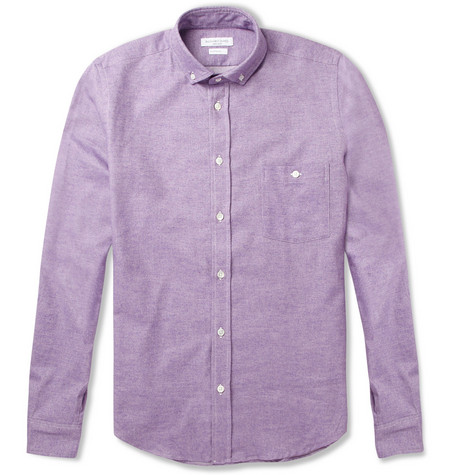 Richard James Brushed Cotton-Twill Shirt