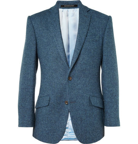 Richard James Hyde Slim-Fit Harris Tweed Blazer