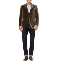 Richard James Hyde Slim-Fit Velvet Blazer