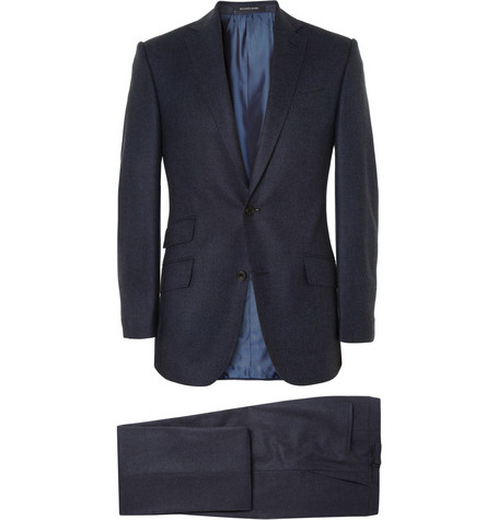 Richard James Hyde Navy Prince of Wales Check Wool Suit