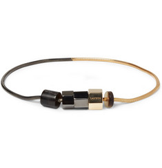 Lanvin Gold and Ruthenium-Plated Bracelet