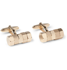 Lanvin Gold-Plated Bolt-Shaped Cufflinks