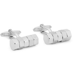 Lanvin Rhodium-Plated Bolt-Shaped Cufflinks