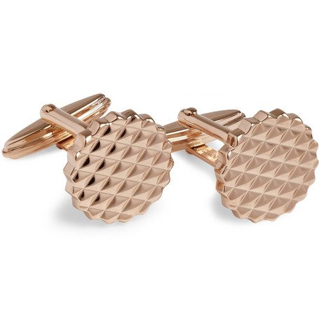 Lanvin Engraved Rose Gold-Plated Cufflinks