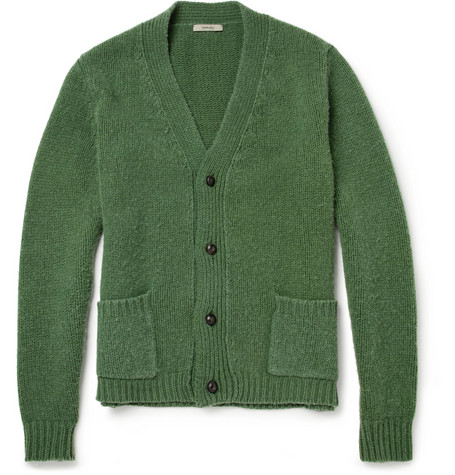 Boglioli Ribbed-Knit Wool Cardigan
