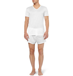 Derek Rose Lewis Mercerised Cotton V-Neck T-Shirt