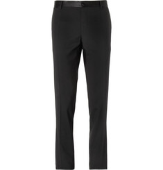 Dolce & Gabbana Tapered Satin-Trimmed Wool-Blend Tuxedo Trousers