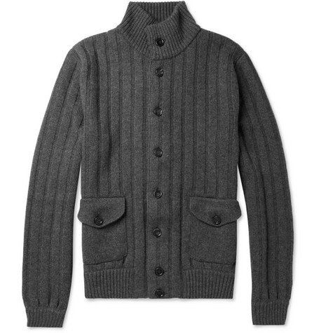 Dolce & Gabbana Ribbed-Knit Wool Cardigan