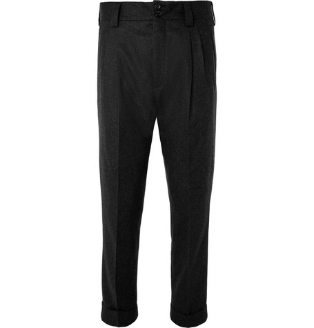 Dolce & Gabbana Tapered Wool-Blend Trousers