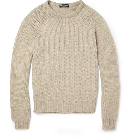 Dolce & Gabbana Knitted Wool and Cashmere-Blend Sweater