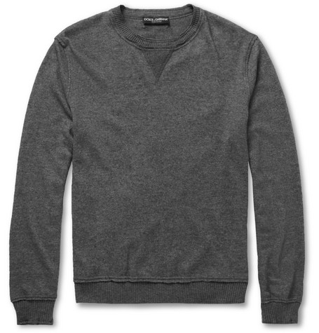 Dolce & Gabbana Raw-Edged Knitted Sweater