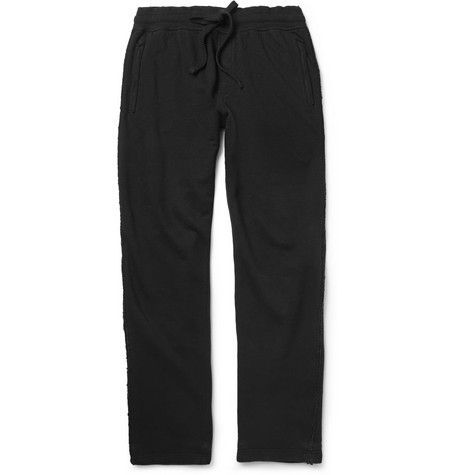 Dolce & Gabbana Raw-Edged Cotton-Blend Jersey Sweatpants