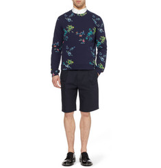 Raf Simons Flower Print-Trimmed Cotton Shorts