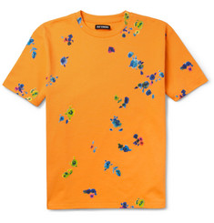 Raf Simons Flower-Print Cotton T-Shirt