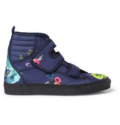 Raf Simons Flower-Print High Top Sneakers