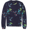Raf Simons - Flower-Print Loopback Cotton-Blend Sweatshirt