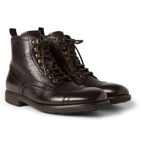 Dolce & Gabbana Textured-Leather Boots