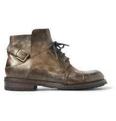 Dolce & Gabbana Burnished Leather Boots