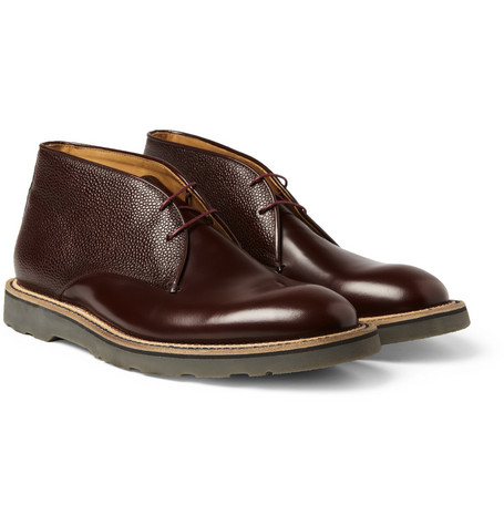 Paul Smith Shoes & Accessories Hunter Textured-Leather Chukka Boots