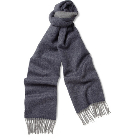 Lanvin Double-Faced Brushed Cashmere Scarf