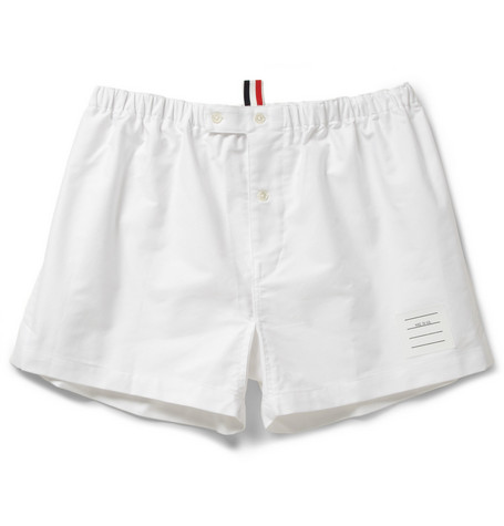 Thom Browne Cotton Oxford Boxer Shorts