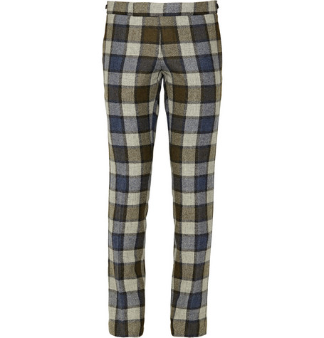 Thom Browne Check Wool Suit Trousers