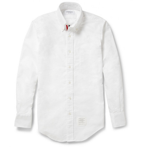 Thom Browne Button-Down Collar Oxford Shirt