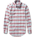Thom Browne Button-Down Collar Check Cotton Oxford Shirt