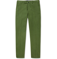 Slowear Incotex Slim-Fit Brushed Cotton-Blend Trousers