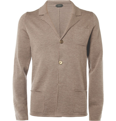 Slowear Zanone Knitted Wool Blazer