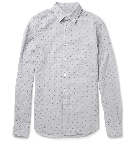 Slowear Glanshirt Slim-Fit Seersucker Cotton-Blend Shirt