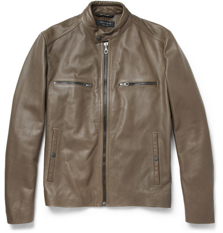 Rag & bone Benson Leather Bomber Jacket