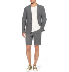 Rag & bone Grey Phillips Printed Cotton Suit Jacket