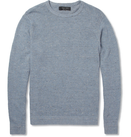 Rag & bone Braddock Flecked Linen and Cotton-Blend Sweater