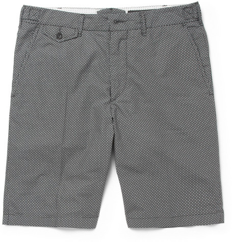Rag & bone Grey Printed Cotton Suit Shorts