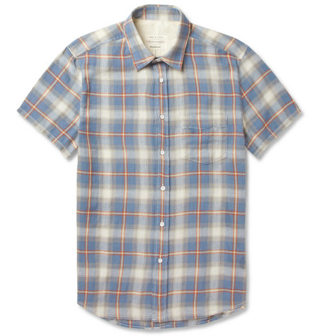 Rag & bone Yokohama Short-Sleeved Cotton-Blend Shirt