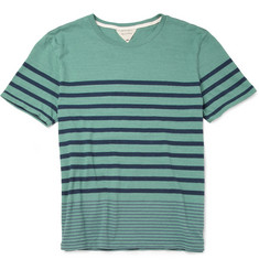 Rag & bone Dean Striped Cotton T-Shirt