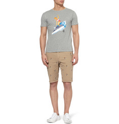 Beams Plus Printed Slub Cotton-Jersey T-Shirt