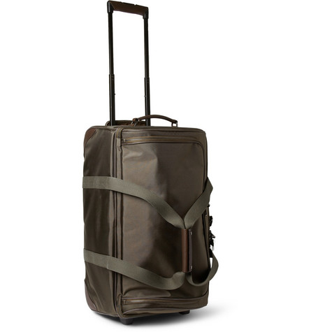 Mulberry Henry Leather-Trimmed Nylon Wheeled Suitcase