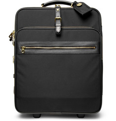 Mulberry Henry Leather-Trimmed Canvas Wheeled Suitcase